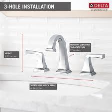 Delta Bathroom Faucet Installation 3551lf Two Handle Widespread Lavatory Faucet