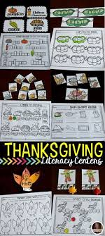 thanksgiving literacy centers for kindergarten ccss literacy