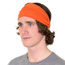 sports headbands orange sports headbands for men mens chef headbands by kooshoo