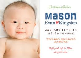 birth announcements simplicity ethan 5 x 7 boy birth announcement by baby