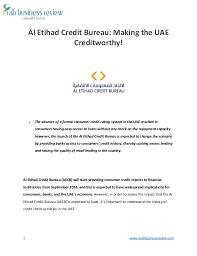 absence bureau al etihad credit bureau