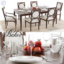 baker cheval table and louis chairs
