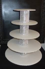 5 tier cupcake stand 5 tier bling faux rhinestone white cupcake by aprincesspractically