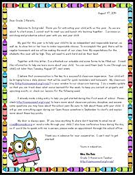 welcome back letter to parents for first grade clipartsgram com