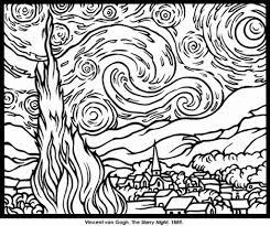 famous artwork coloring pages u2013 pilular u2013 coloring pages center