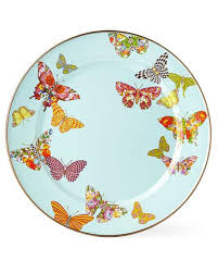 mackenzie childs l mackenzie childs butterfly garden sky dinnerware