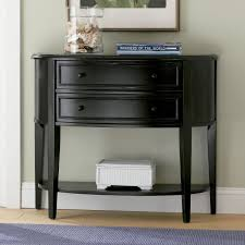 Black Entryway Table Powell 502 515 Black Demilune Console Table The Mine