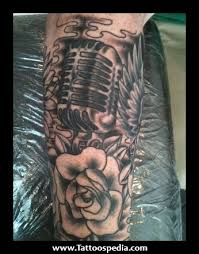 half sleeve music tattoos designs