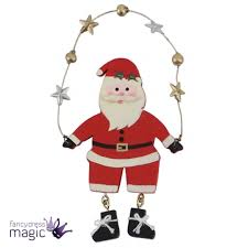 traditional festive wooden christmas hanging tree on wire star