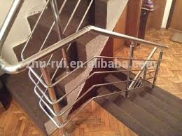 Handrail Brackets For Stairs Golden Or Silver Aluminum Handrail Bracket Accessory For Outdoor