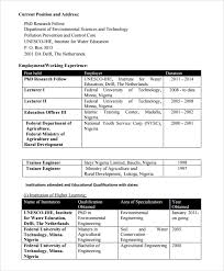 Samples Of Resume Pdf by 10 Agriculture Resume Templates Free Pdf Word Samples