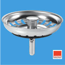 McAlpine BWSTSS Steel Kitchen Sink Basket Strainer Waste Stemball - Kitchen sink basket strainer waste