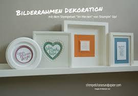 bilderrahmen dekorieren bilderrahmen dekoration mit stempeln stempel stanze und papier