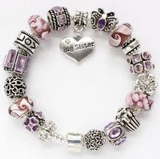 murano charm bracelet images European charm bracelet big sister or from silverstamped on etsy jpg