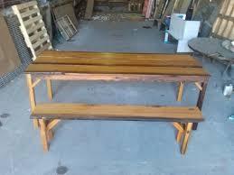 Farmhouse Patio Table by Custom Reclaimed Farmhouse Patio Table And Bench By Lightfast