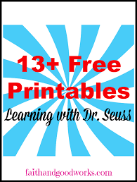 learning with dr seuss free printables round up