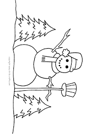 pictures snowmen color kids coloring