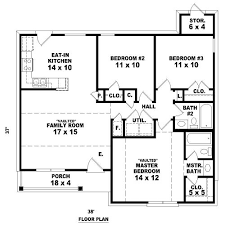 Three Bedroom Ranch Floor Plans 121 Best Houseplans 3 Bedroom Images On Pinterest Small House