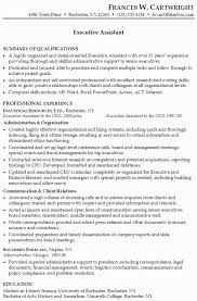 executive assistant resume sample by patricia chopin the benefits