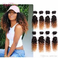 crochet black weave hair ombre brown loose wave brazilian hair extension mongolian curly