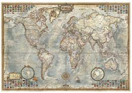 World Map 1500 by Educa 1500 Piece Jigsaw Puzzle Political Map Of The World Puzzlesnz