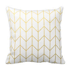 gold foil pillows decorative throw pillows zazzle