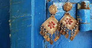 gujarati earrings silver jewelry kutch gujarat india gaatha ग थ handicrafts