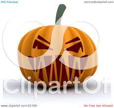 clipart picture of an evil orange halloween pumpkin with a scary