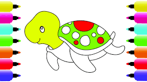 how to draw turtle coloring pages animals step by step art
