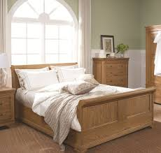 bedroom bedroom with grey walls and solid oak furniture