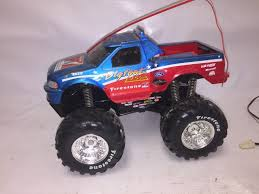 toy bigfoot monster truck ford f 150 bigfoot monster truck rc toy with firestone tires