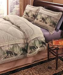3 pc bear wildlife king comforter pillow sham set log cabin lodge