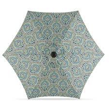 Market Patio Umbrella Shop Garden Treasures Blue Paisley Market 7 5 Ft Patio Umbrella At