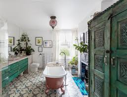Eclectic Bathroom Ideas The London Home Of Swedish Interior Designer Lotta Cole Swedish