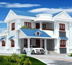 Colour Combination With Blue Most Popular Exterior House Color With Blue Roof And Luxury