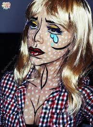 Pop Art Costume Halloween Pop Art Comic Book Makeup Geek Put Face