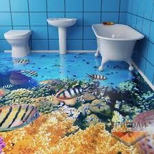 Painting A Bathroom Floor - 3d flooring painting a guide to installing epoxy floor designs