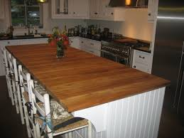 Kitchen Island Wood Top Rectangular Kitchen Countertops With Wood Like Table That Can Be