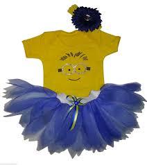 Toddler Minion Costume Kids Minion Costume T Shirt Neon Tutu Set Free Headband Bling