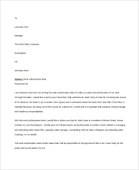 sample work authorization letter 7 examples in word pdf