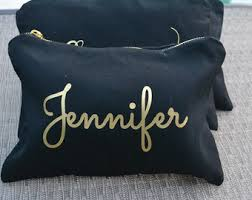 bridal party makeup bags personalized makeup bag etsy