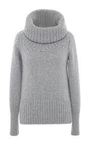 heather grey cashmere turtleneck sweater by blumarine moda operandi