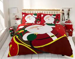 Christmas Duvet Covers Uk Christmas Duvet Cover Ireland Santa Sleigh Red Online