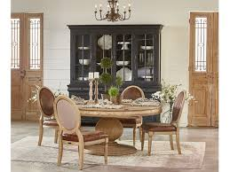 magnolia home dining room belgian breakfast table setting table