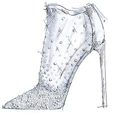 shoe designers sketch cinderella glass slipper popsugar fashion