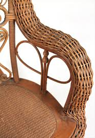 igavel auctions heywood wakefield child u0027s wicker rocking chair