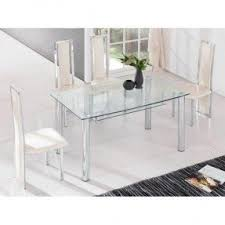 Glass Dining Room Table And Chairs Clear Glass Dining Table Foter
