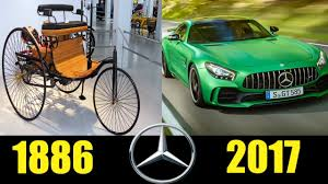 first mercedes benz 1886 mercedes benz evolution from 1886 to 2017 then and now youtube