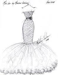 Design Dresses Drawn Design Cloth Pencil And In Color Drawn Design Cloth