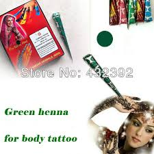 henna tattoo cream body colored drawing india ink natural green
